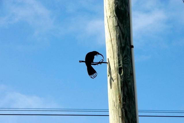 'Huia' Metal Bird by Phil Walters.