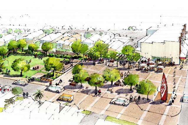 Concept 1 by LA4 Landscape Architects.