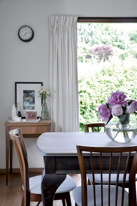 The dining room in Lauren's Dunedin home.