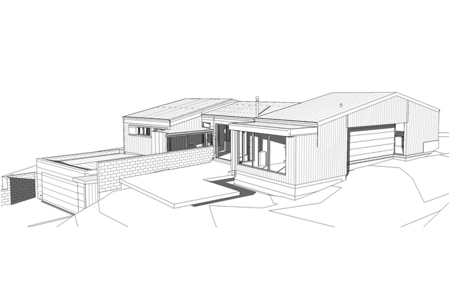 Harris residence by Energy Architecture NZ in conjunction with Hyndman Taylor Architects. A low energy design with structural insulated panel construction and triple glazed windows.