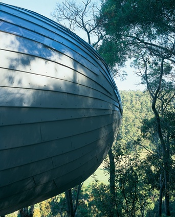 "This house near Wye River is described as ""a zeppelin nestled against the hillside."""