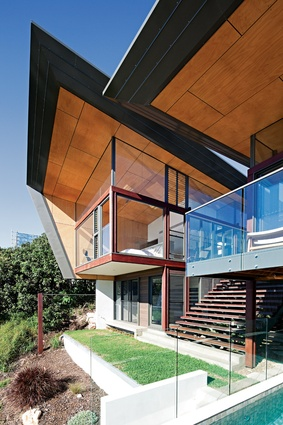 Set high on a site of wooded sand dunes, Peregian Beach House Two makes the most of the landscape.