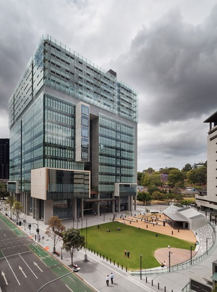 Queen Elizabeth II Courts of Law by Architectus in association with Guymer Bailey Architects.