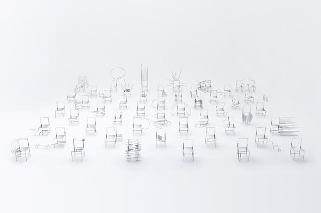 Manga chairs for Friedman Benda by Nendo, 2015.