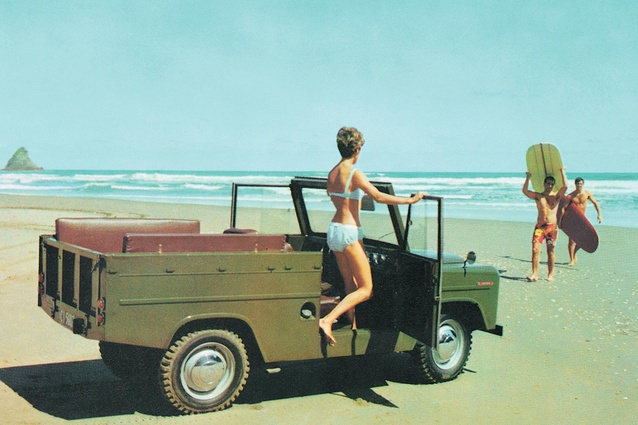 Trekka takes to the beach - a shot from the Trekka brochure. trekka.co.nz