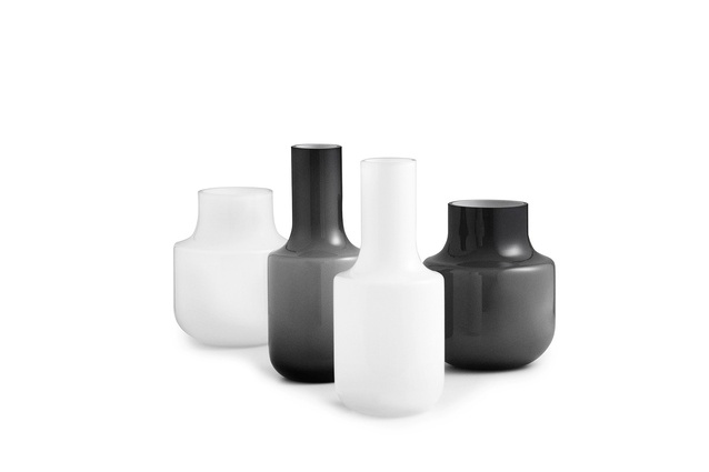 Created from hand-blown glass, the Still Vases for Normann Copenhagen are finely resolved objects.