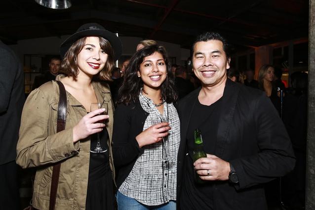 L to R: Margarita Lanev, Mallika Goel and Jef Wong of Designworks
