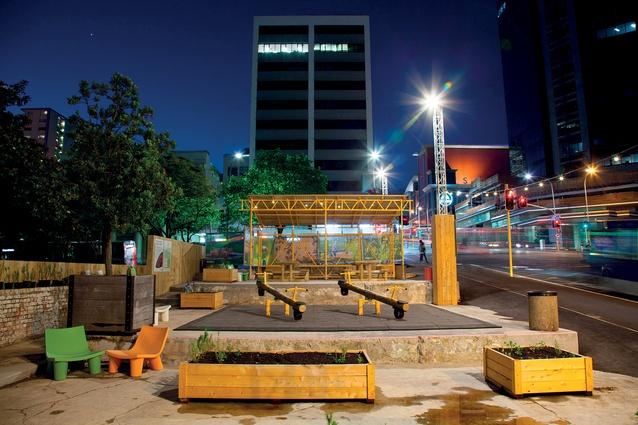 Griffiths Gardens at night. The Gardens is home to Sarah Smuts-Kennedy's social sculpture 'For the Love of Bees'.