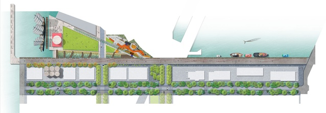 Concept Plan of Jellicoe Street, Silo Park and North Wharf Promenade.