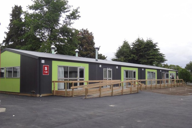 Completed – January 2012. Avonside Girls High School by Opus Architecture, 180 Avonside Drive. 62 new modular teaching spaces were urgently required.