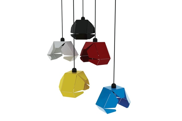 The Metal Petal pendant light can be adapted to be a table or wall-mounted lamp.