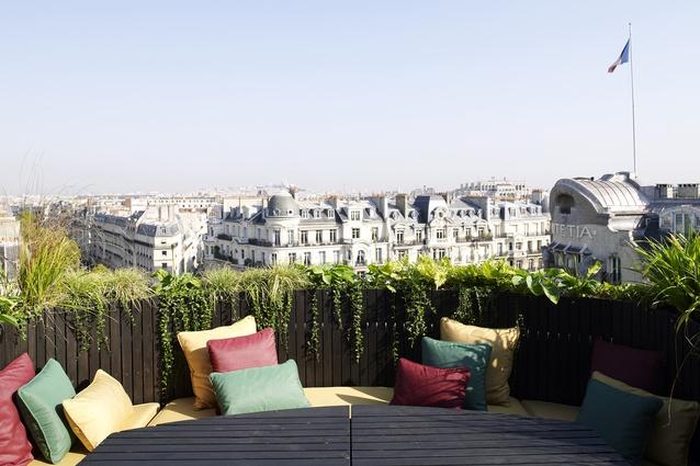 Takada's dream view of Paris from his apartment in Saint-Germain-de-Prés.