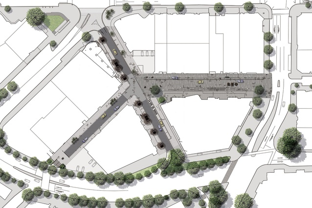 Library precinct masterplan.
