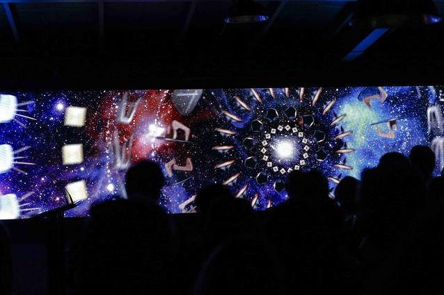 Awards night visuals from digital artists Mulk.