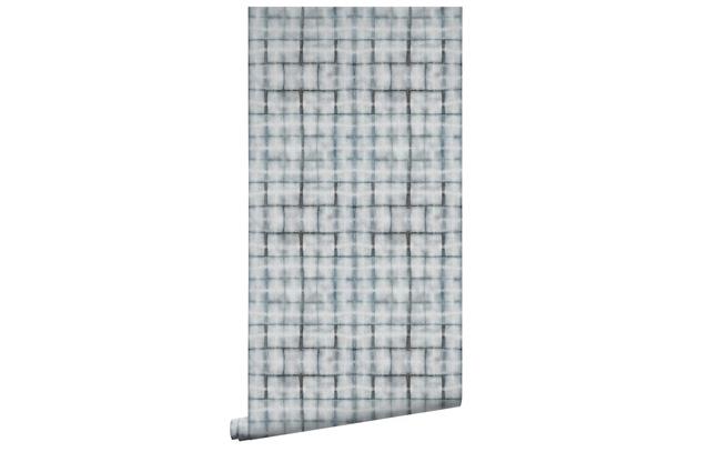 Earth Grey Brick Wallpaper by Shibori | $266 per metre.