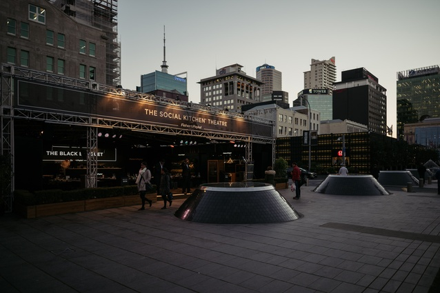 The Social Kitchen Theatre by Fisher & Paykel in Takutai Square, Britomart.