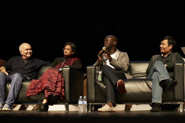 L-R: Jo Noero, Marina Tabassum, David Adjaye and Vo Trong Nghia.