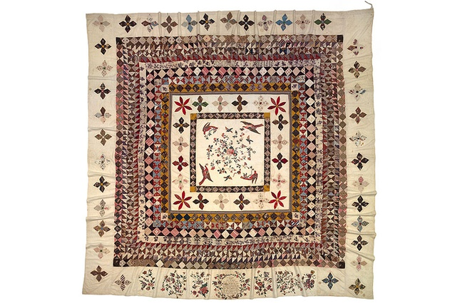 The Rajah quilt. 1841. Collection of the National Gallery of Australia. Gift of Les Hollings and the Australian Textiles Fund 1989.