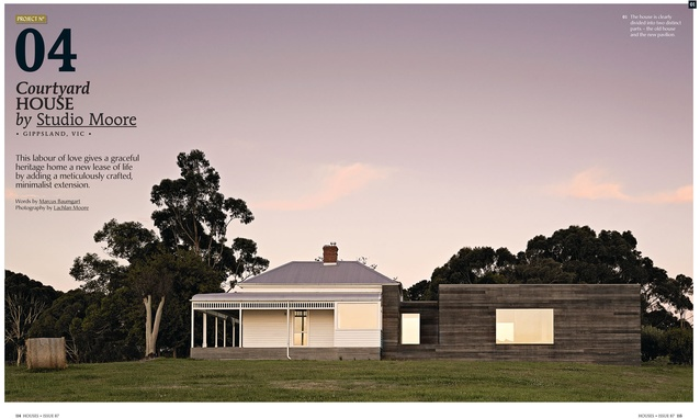 A preview from the magazine: Courtyard House by Studio Moore.