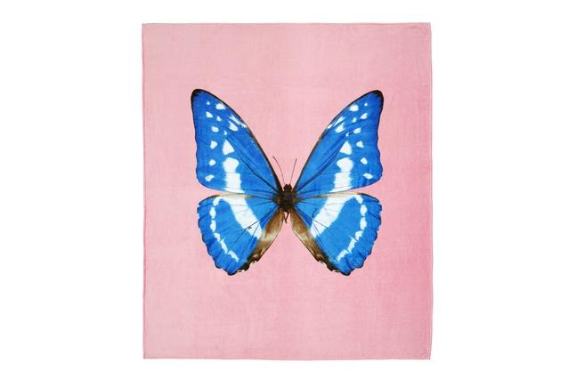 "Damien Hirst beach towel $225 from  <a  href="" http://www.design55.co.nz/"" target=""_blank""><u>Design55</u></a>."