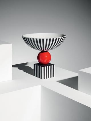 "Wedgewood + Lee Broom I $12,150 from  <a  href=""http://www.leebroom.com/products/wedgwood-bowl-on-red-sphere"" target=""_blank""><u>leebroom.com</u></a>"