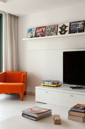 Another shot of the living area in Patton's French Concession apartment.