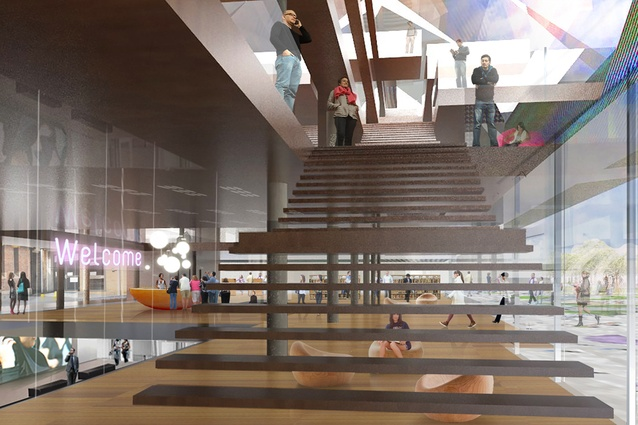 Winning design for a civic building in Parramatta Square by Manuelle Gautrand Architecture, DesignInc and Lacoste + Stevenson.