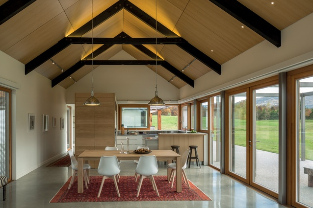 Internally the emphasis rests squarely on a clean-lined, contemporary aesthetic.