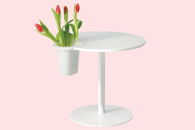 Grip Table with vase by Satyendra Pakhalé for Offecct $2581 from Cult Design.