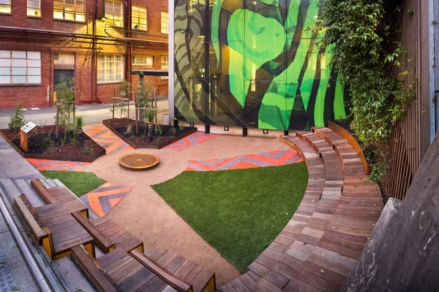 Ngarara Place, an Indigenous garden by Greenaway Architects, at RMIT University's  city campus.