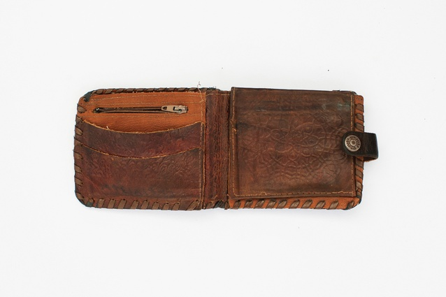 Memories from home: the wallet of a Kurdish man from Syria.