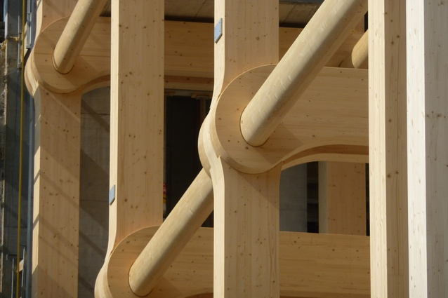 Tamedia New Office Building by Shigeru Ban Architects (Zurich, Switzerland, 2013).