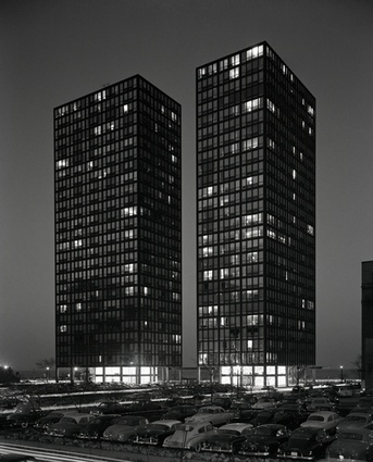 Lake Shore Drive Apartments by Mies van der Rohe.