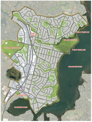 Tāmaki Regeneration by Jasmax in Glen Innes, Panmure and Point England. A large scale, urban transformation project currently in progress.