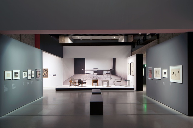 Domestic-scale settings for furniture exhibits.
