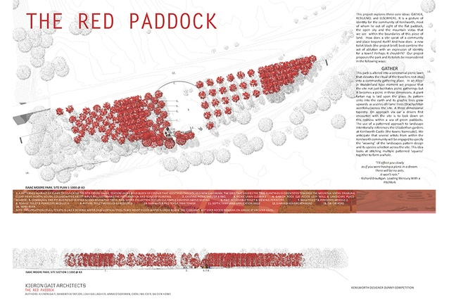 The Red Paddock by Kieron Gait Architects.