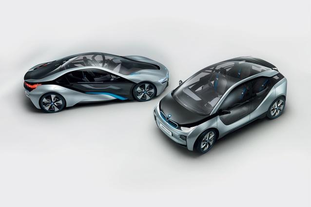 BMW i3 + i8.