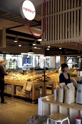 Eighthirty, a cleverly constructed coffee roasting and retailing unit designed by Glamuzina Paterson Architects.