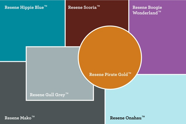 A selection of Resene colours that Maria has used for her moodboard.