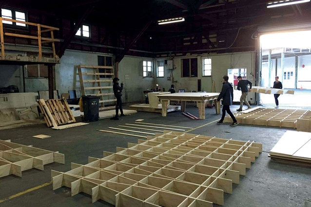 Fabrication of the Thoreau Hut was undertaken at Makers of Architecture's factory in Wellington.