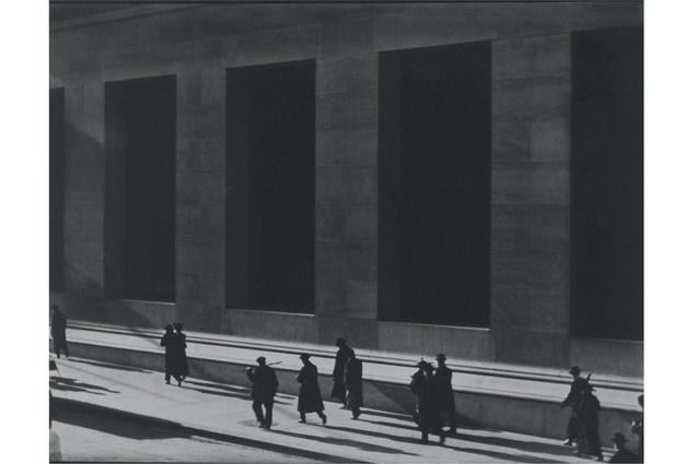 <em>Wall Street, New York</em>, 1915. Platinum print by Paul Strand.