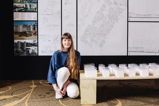 Hannah Broatch, who won Highly Commended at the NZIA Cadimage Group Student Design Awards.