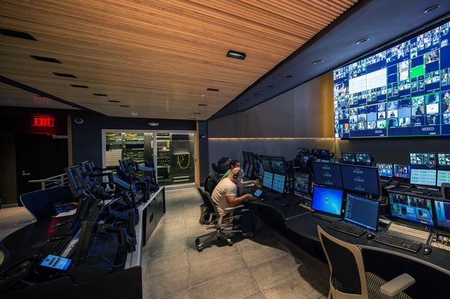 HBO network LAG Central Control Centre by  Meridian Design Associates in Sunrise, Florida, United States. 2012. A hub for broadcasting control.