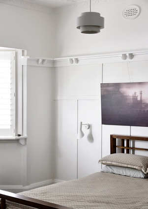 White surfaces in the existing dwelling lift light levels.