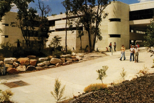 Griffith University landscapes by University Buildings Division: Roger Johnson (1972), Alan Cole (1973), Neil Thyer (1973) and Sam Ragusa (1978).