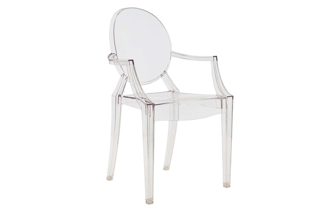 The Louis Ghost chair designed by Philippe Starck for Kartell in 2002.