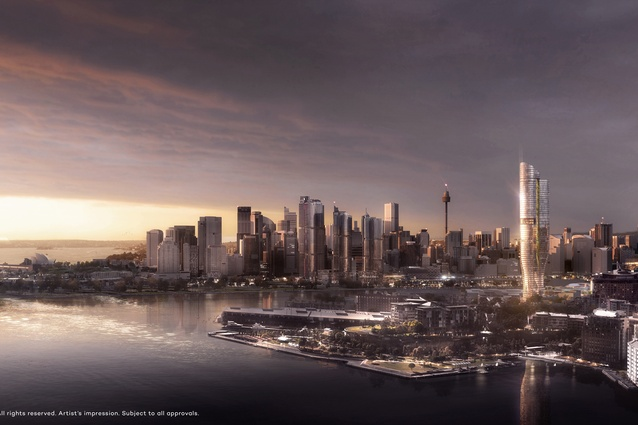 The proposed Ritz-Carlton hotel and residential tower designed by FJMT.