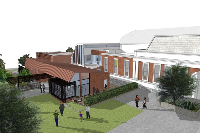 Designs for the redevelopment of the Ararat Regional Art Gallery by Williams Boag Architects.