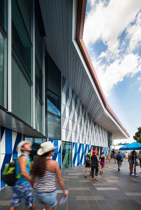 Deep eaves extend around the building, providing much-needed shade and shelter from Melbourne's inclement weather.
