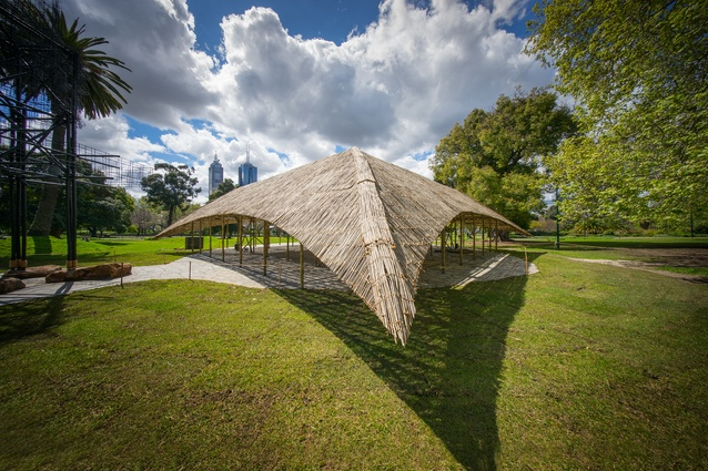 The 2016 MPavilion designed by Studio Mumbai.